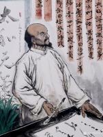 艺术家何学忠日记:国画人物画:为清武威凉州怪杰杨成绪造像,辛丑年何学忠画。 【图2】