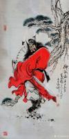 艺术家何学忠日记:国画人物画钟馗《神威图》,百馗楼主人辛丑年夏月画于古凉州。【图0】