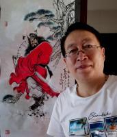 艺术家何学忠日记:国画人物画钟馗《神威图》,百馗楼主人辛丑年夏月画于古凉州。【图2】
