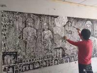 艺术家马培童日记:《佛像风格——石窟探访》童心写历(88)马培童焦墨画感悟笔记【图1】