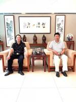 艺术家叶仲桥收藏:昨天(7月11日)回广东汉莎画院主持院务工作,接待几位著名艺【图1】