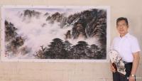 艺术家罗树辉日记:国画山水画《云岭松涛》,辛丑年夏月罗树辉创作。 广州疫情解【图1】