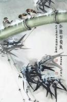 艺术家李伟强日记:国画花鸟画《夜深知雪重》,李伟强辛丑年夏月画於广州老年大学提【图0】