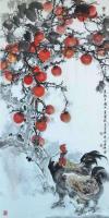 艺术家李伟强日记:国画花鸟画《丰年留客足鸡豚》取宋朝诗人陆游《游山西村》诗意;【图0】