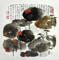 艺术家赵承锐日记:国画花鸟画水墨荷花小品《舒卷有余情》《绿叶轻摇水面风》,辛丑【图1】