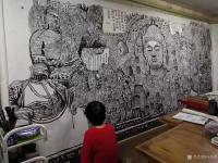 艺术家马培童日记:《焦墨功夫,贵在坚持!》马培童焦墨画感悟笔记-童心写历(10【图1】