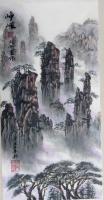艺术家刘开豪日记:国画山水画《峥嵘》,竖幅,作品尺寸34cmX68cm。【图0】