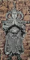 艺术家马培童日记:创作焦墨画二郎神《天使佑中华》马培童焦墨画感悟笔记-童心写历【图0】