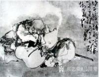 艺术家马培童收藏:对话清代黄慎人物画,潘玮萱评马培童(53)    黄慎,清【图1】
