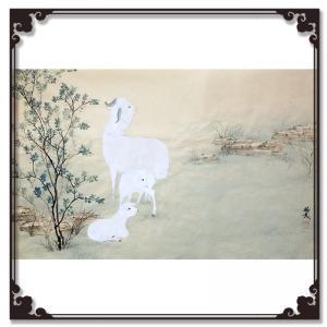 袁树茂国画作品《【羊羔】作者袁树茂》价格2880.00元