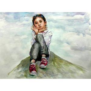 王积强油画作品《【美丽童年】作者王积强》价格10320.00元