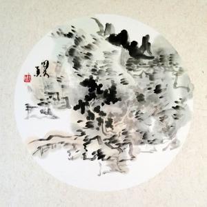 周现宏国画作品《【团扇 硬卡纸】作者周现宏》价格240.00元
