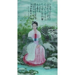 顾顺强国画作品《【美女】作者顾顺强》价格2400.00元