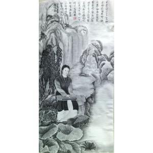 顾顺强国画作品《【荷叶妹】作者顾顺强》价格2400.00元