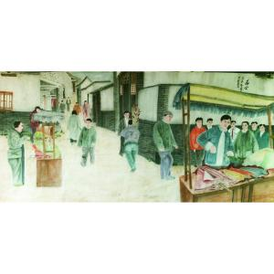 顾顺强国画作品《【群众】作者顾顺强》价格2400.00元