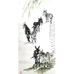 周兰辰国画作品《【毛驴散步】作者周兰辰》价格626.00元