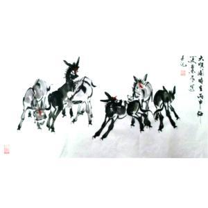 周兰辰国画作品《【毛驴】作者周兰辰》价格480.00元