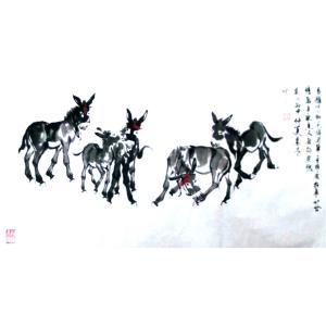 周兰辰国画作品《【小毛驴】作者周兰辰》价格480.00元