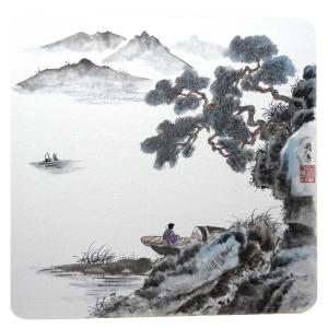 蔡国英国画作品《【水墨山水】作者蔡国英》价格500.00元