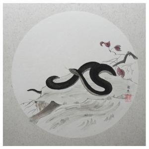 蔡国英国画作品《【生肖蛇】作者蔡国英》价格866.00元