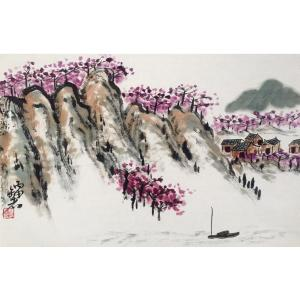 曹金华国画作品《【山下小屋】作者曹金华》价格480.00元