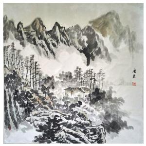 莫宏生国画作品《【山中居】作者莫宏生》价格1440.00元