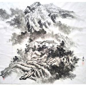莫宏生国画作品《【山中房】作者莫宏生》价格1440.00元