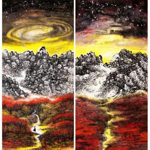 王林昌国画作品《【万物生】作者王林昌》价格10152.00元