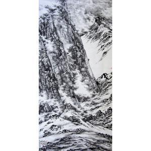 王林昌国画作品《【珠峰雪域】作者王林昌》价格33600.00元