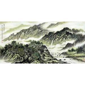 樊国平国画作品《【白云抱幽石】作者樊国平》价格26400.00元