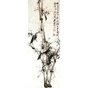 周升荣国画作品《【竹子】作者周升荣》价格1920.00元