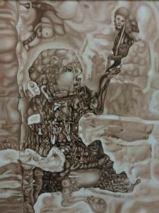 雷寿平油画作品《【世纪神话一】作者雷寿平》价格20000.00元