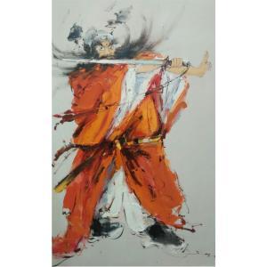 卢锦华油画作品《【钟馗舞剑】作者卢锦华》价格2400.00元
