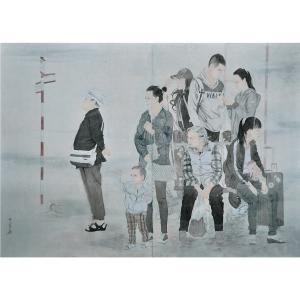 范少男国画作品《【时间与等候】作者范少男》价格24000.00元