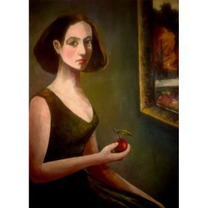 高剑峰油画作品《【少女之苹果】作者高剑峰》价格14400.00元