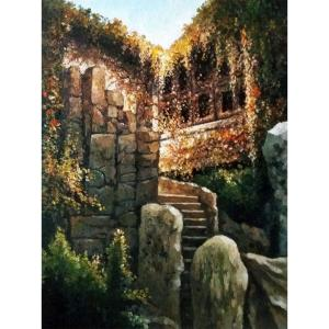 高剑峰油画作品《【扬州公园】作者高剑峰》价格3600.00元