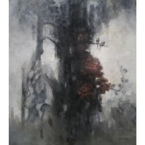 胡静油画作品《【一庭香】作者胡静》价格192000.00元