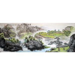 陈新义国画作品《【渭源晴晓】作者陈新义》价格57600.00元