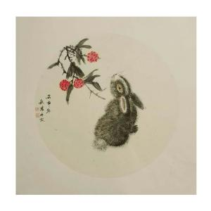 陈秋宏国画作品《【顽兔】作者陈秋宏》价格1200.00元