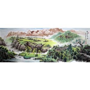 陈新义国画作品《【山水】作者陈新义》价格57600.00元