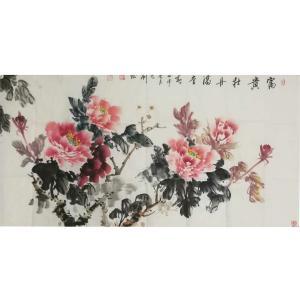刘燃国画作品《【富贵牡丹满堂】作者刘燃》价格96000.00元