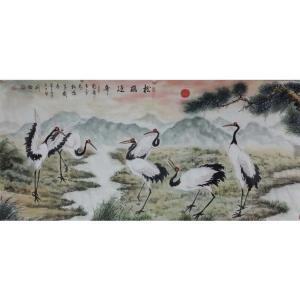 刘燃国画作品《【松鹤延年】作者刘燃》价格192000.00元