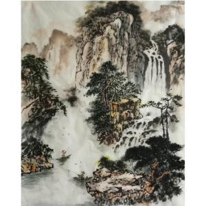 刘燃国画作品《【险地泛舟】作者刘燃》价格38400.00元