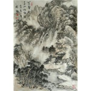 刘燃国画作品《【自然的力量】作者刘燃》价格84000.00元