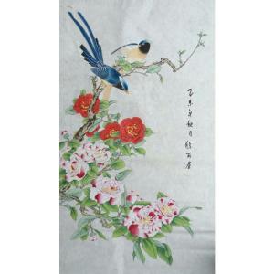 林丽姐国画作品《【两鸟鸣春】作者林丽姐》价格1080.00元