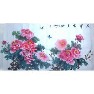 胡顺卿国画作品《【花开富贵】作者胡顺卿》价格1440.00元