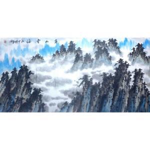 胡顺卿国画作品《【黄山云海】作者胡顺卿》价格1440.00元
