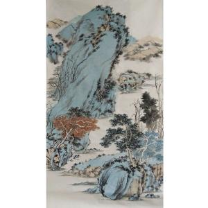 陈亚龙国画作品《【山水4】作者陈亚龙》价格960.00元