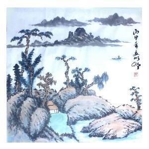 胡顺卿国画作品《【山水】作者胡顺卿》价格720.00元