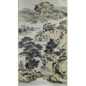 陈亚龙国画作品《【山水5】作者陈亚龙》价格960.00元